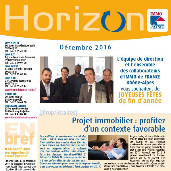 Lettre Horizon Décembre 2016
