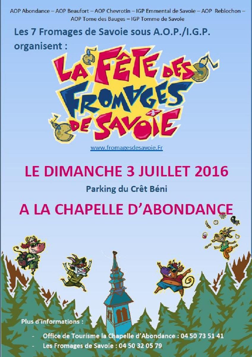 12ème fête des fromages de Savoie - Le 03 Juillet 2016