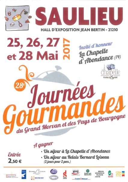 Journées Gourmandes 2017 à Saulieu en Bourgogne !