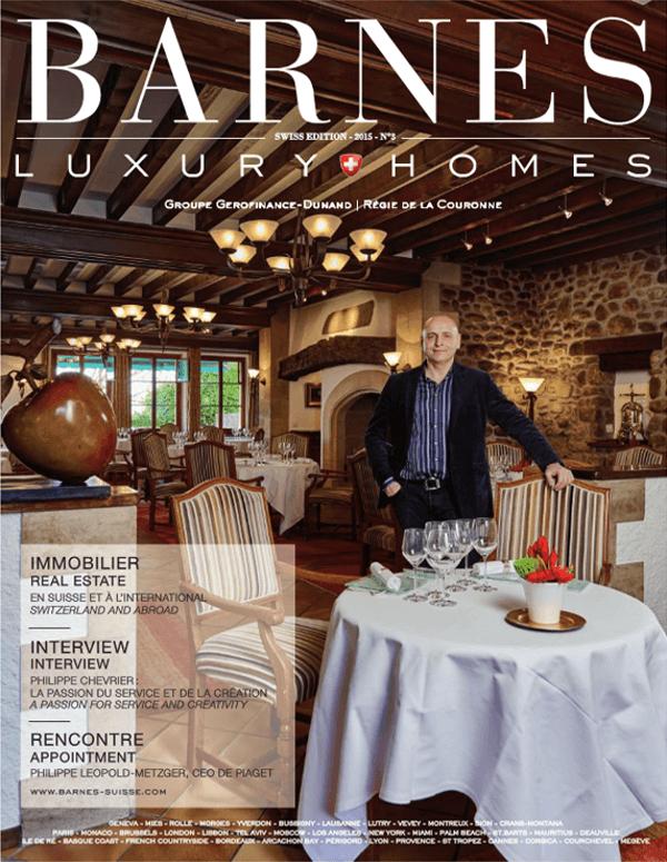 Découvrez le magazine Barnes Luxury Homes Edition Suisse - Magazines BARNES