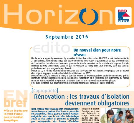 Lettre Horizon Septembre 2016